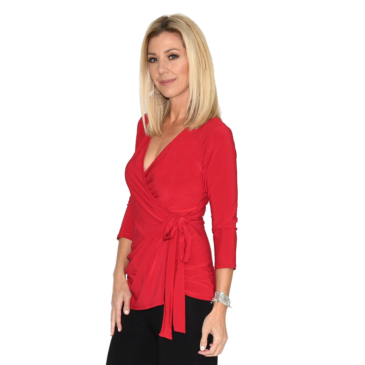 TBYB (Stylist) - Monroe Wrap Top - Red