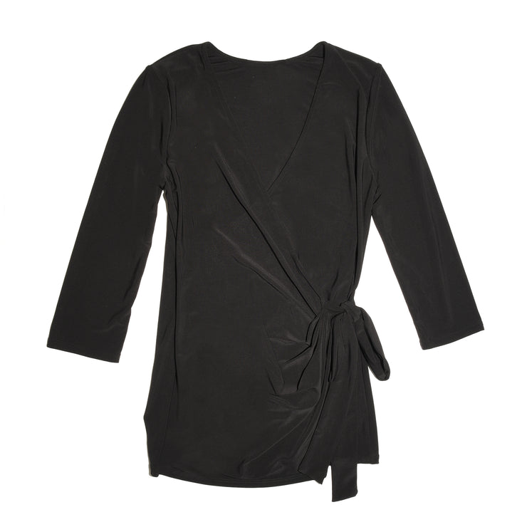 Shop TBYB - Monroe Wrap Top - Black