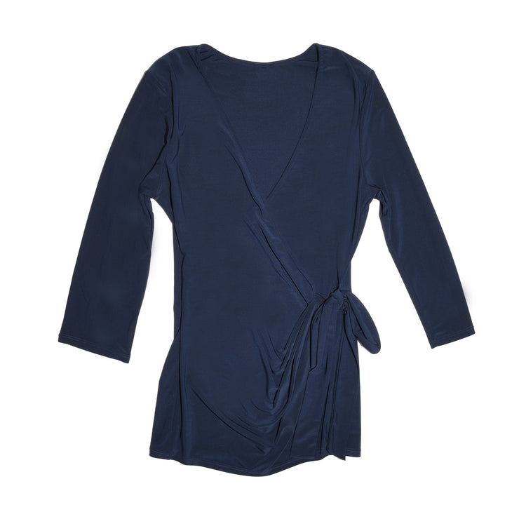 TBYB - Monroe Wrap Top - Navy // Redeem 50% Off