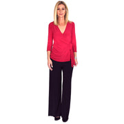 TBYB - Monroe Wrap Top - Red // Redeem 50% Off