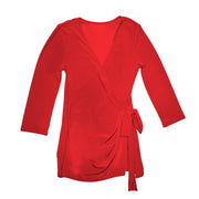 Monroe Wrap Top - Red