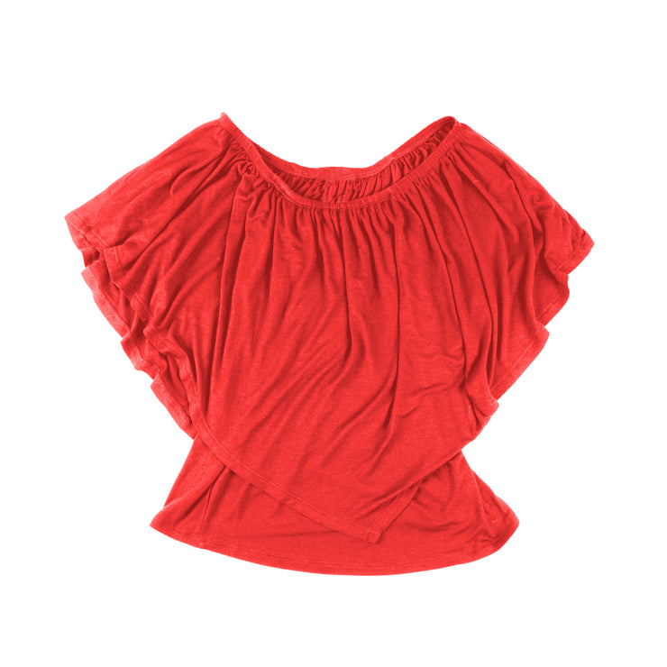 TBYB - Ross Off Shoulder Top - Red // Redeem 50% Off