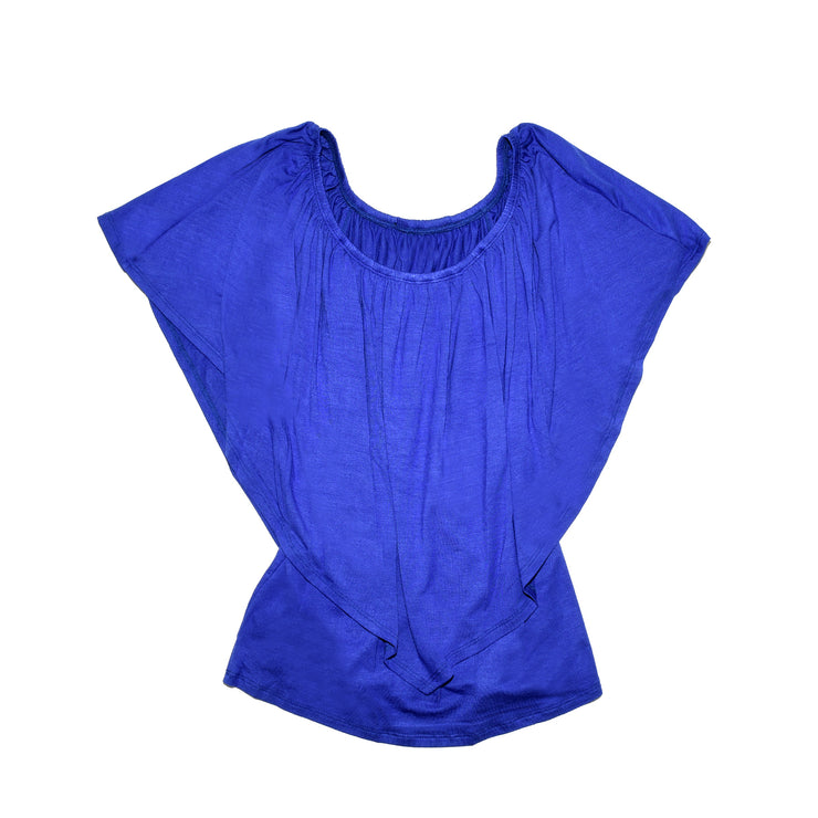 Ross Off Shoulder Top - Royal // Redeem 50% Off