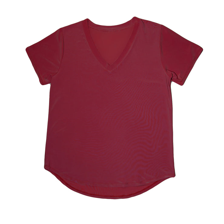 Shop TBYB - Savannah Casual Top - Burgundy