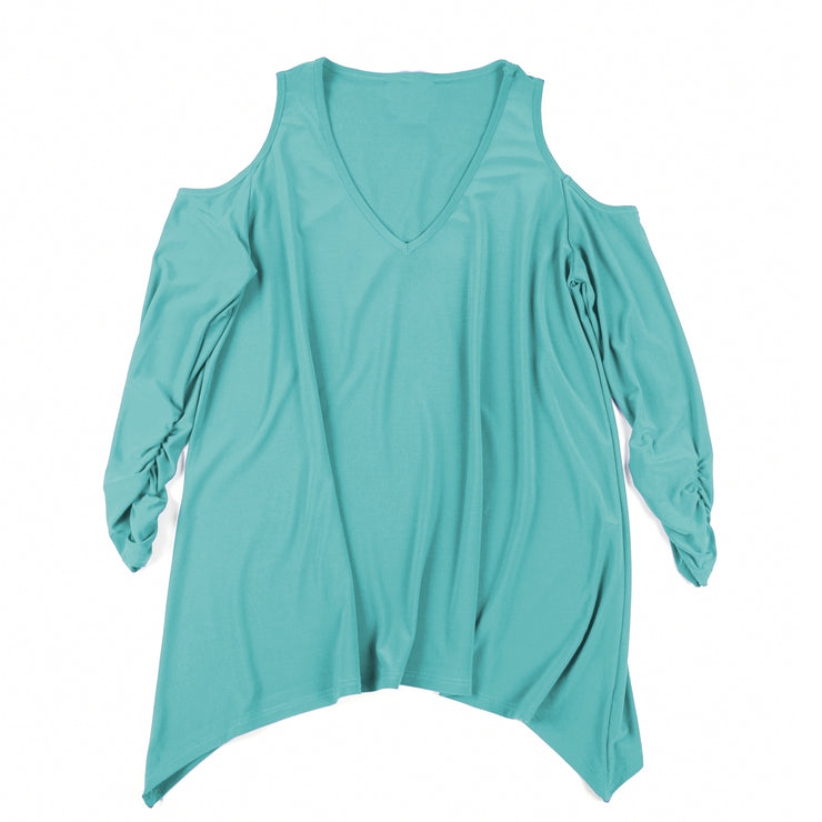 Taylor Cold Shoulder Top - Topaz
