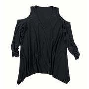Taylor Cold Shoulder Top - Black // Redeem 50% Off