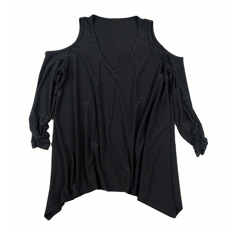 TBYB (Stylist) - Taylor Cold Shoulder Top - Black