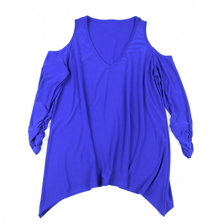 Taylor Cold Shoulder Top - Royal