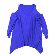Shop TBYB - Taylor Cold Shoulder Top - Royal