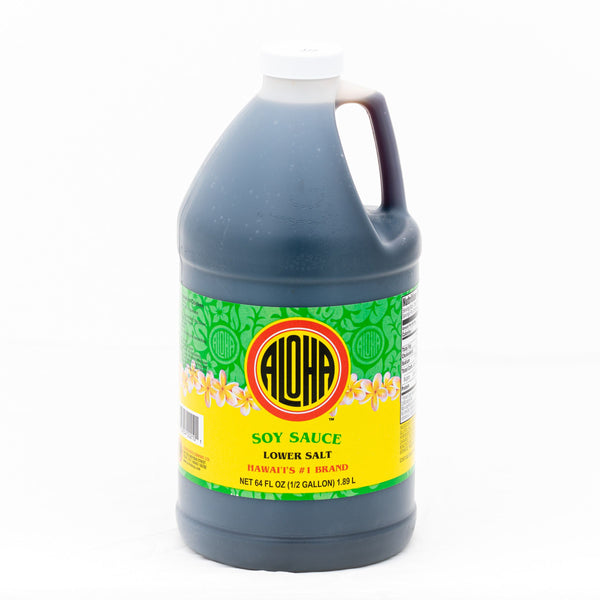 ALOHA Soy Sauce 64oz-Low Salt