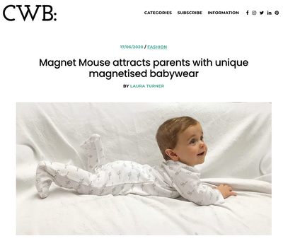 CWB: Magnet Mouse attracts parents with unique magnetised babywear