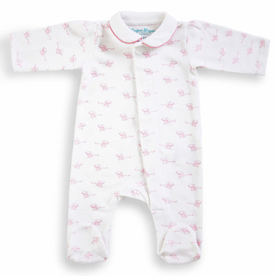Pink Mouse: Cotton Onesie