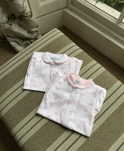 Pink Mouse Romper: Without Feet