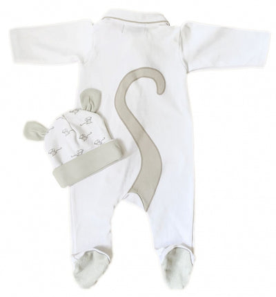 Baby Mouse: Mouse Tail onesie with Baby Hat