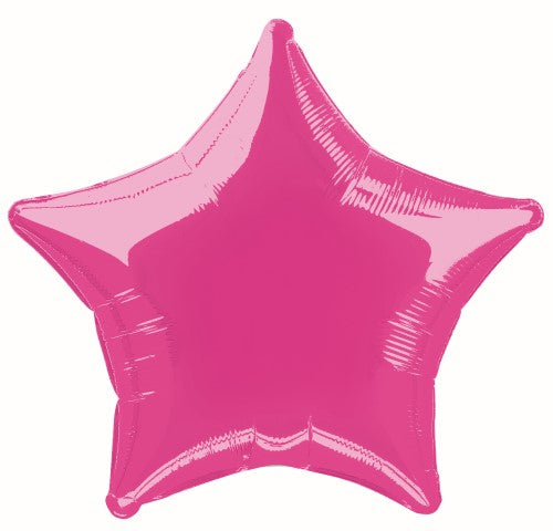 "53327 - Hot Pink Star 50cm (20"") Foil Balloon Packaged"