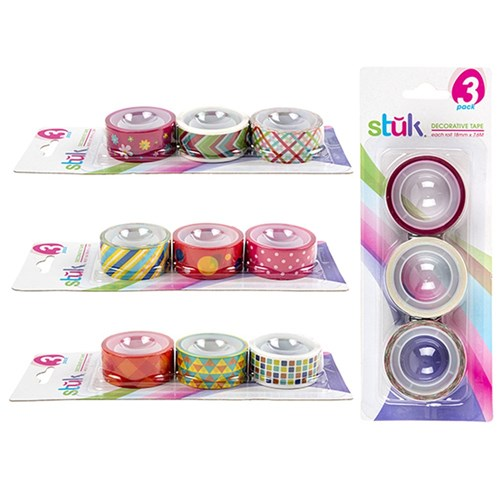 Tape Deco 18mm x 7.6M 3pk