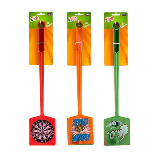 Fly Swatter Pk2 Asstd Novelty Designs 45x9.5cm