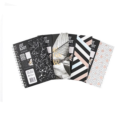 Notebook Fashion Spiral A5 4 Asstd P7.1 FSC Mix 70%