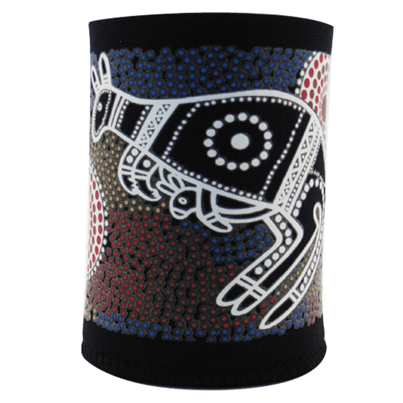Australia Souvenir Stubbier Holder With Aborigin Design