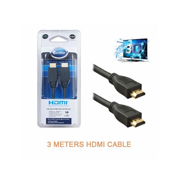 3Meter HDMI™ Interface Audio Video Cable