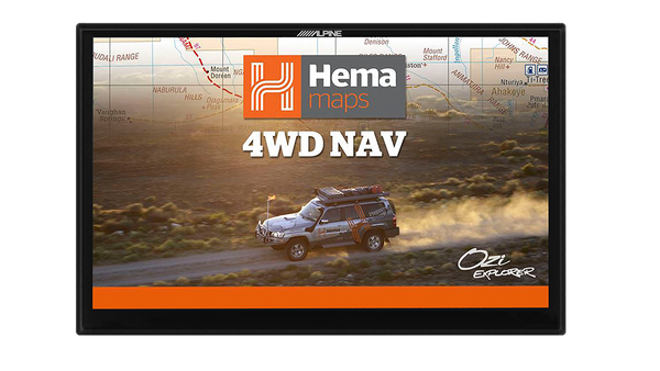 Indash navigation audio visual with hema maps + 9