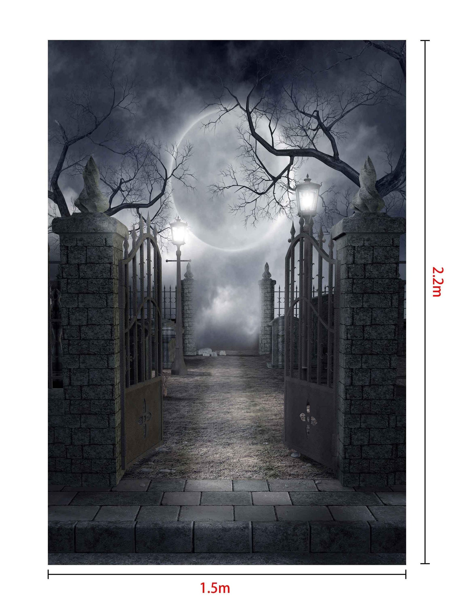 Load image into Gallery viewer, Kate Halloween fabric Backdrop for photography Haunted house