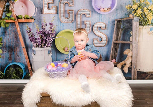 Kate Egg-celent Easter Backdrop designed by Arica Kirby