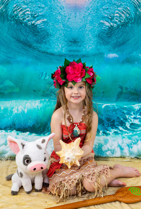 Kate Summer Beach Waves Backdrop Designed by Rosabell Photography