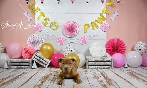 Load image into Gallery viewer, Kate Cake Smash Children Paw Backdrop Designed by AAE Photography