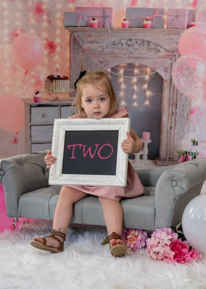 Load image into Gallery viewer, Kate Cake Smash For Party Photography Pink 1st birthday Backdrop Balloons