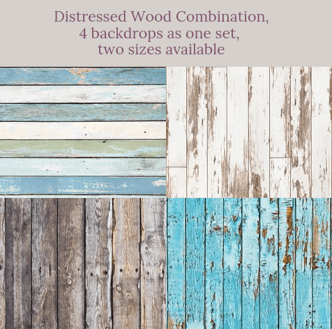 Distressed Wood combination backdrops for photography( 4 backdrops in total )AU