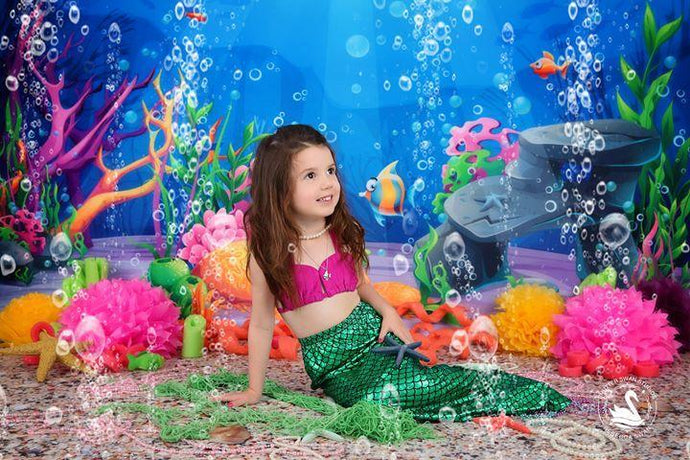 Kate Underwater World Mermaid Scene Backdrops for Photography