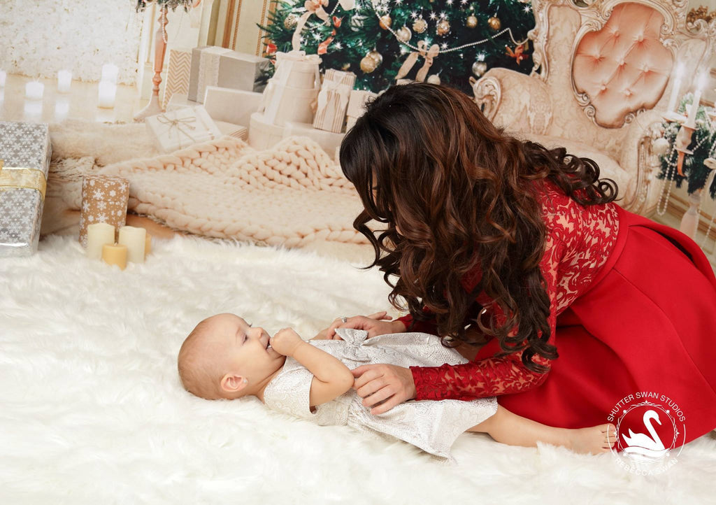 Kate Christmas luxury clean interior Backdrop for holiday session
