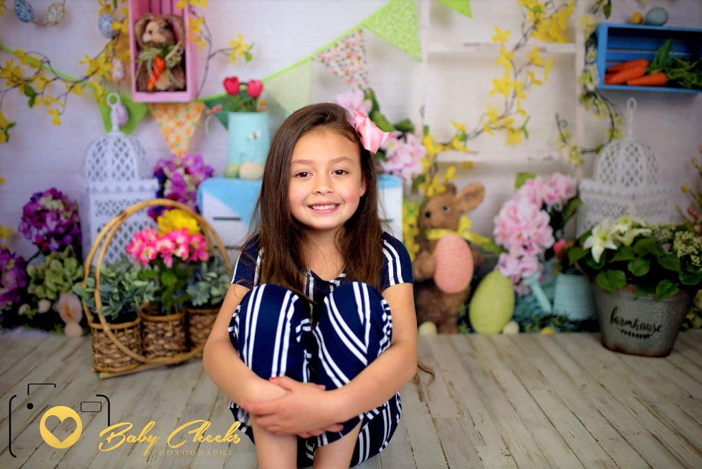 Kate Hello Spring Home Backdrop for Easter session