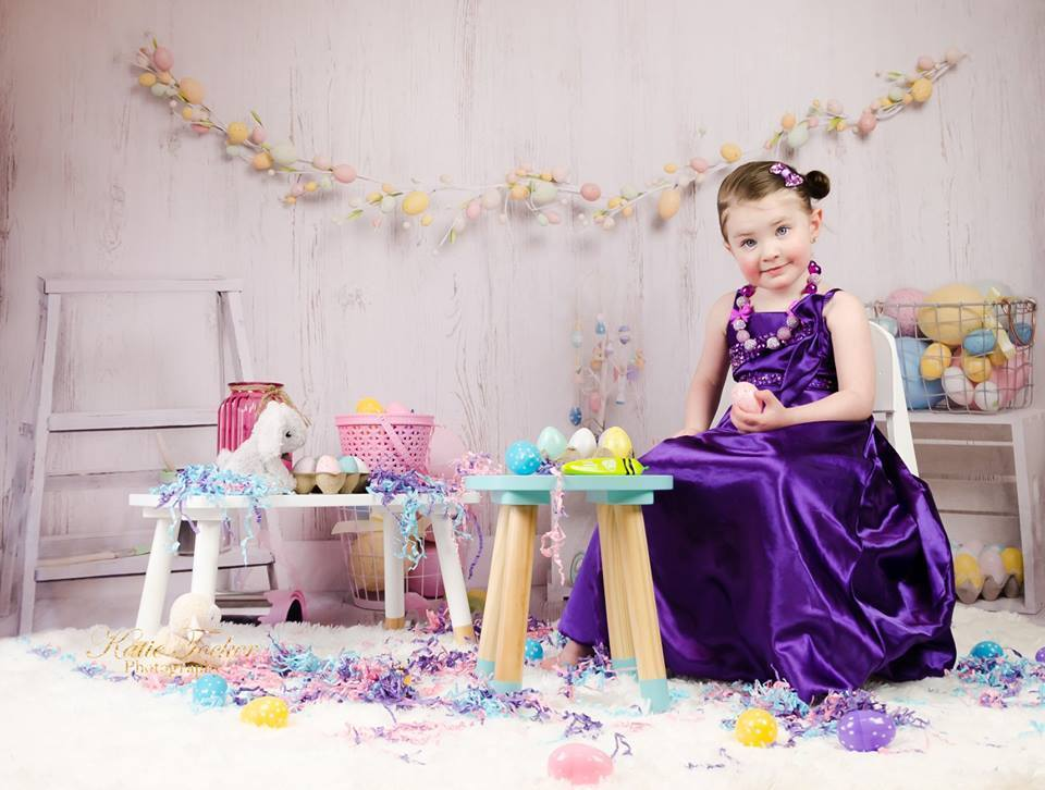 Load image into Gallery viewer, Kate Colorful Eggs Decorations Easter Spring Children Backdrop for Photography Designed by Erin Larkins