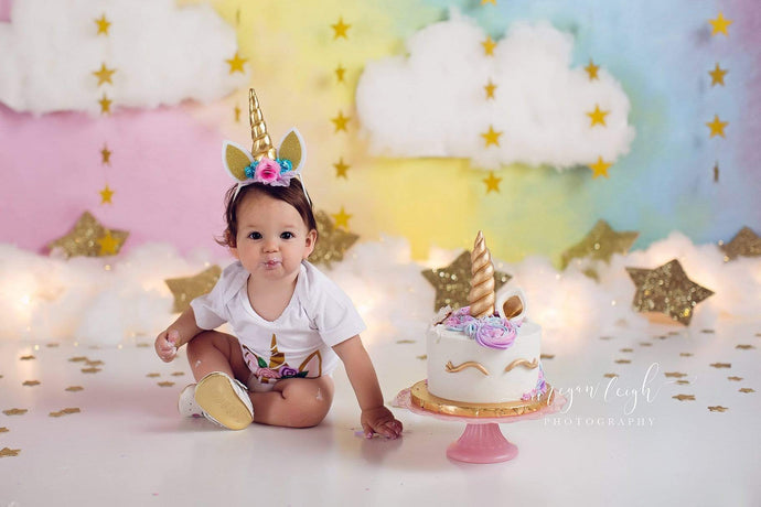 Kate Fantasy Background with Clouds Stars Children Backdrop for Photography Designed by Megan Leigh Photography