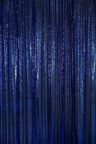 Kate Navy Blue Sequin Fabric Backdrop