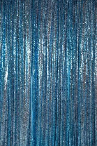 Kate Lake Blue Sequin Fabric Backdrop