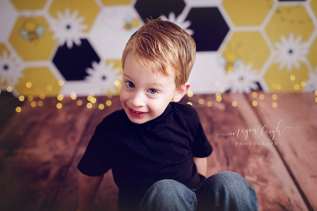 Kate Bumble Bee Summer Backdrop for Photography Designed by Megan Leigh Photography
