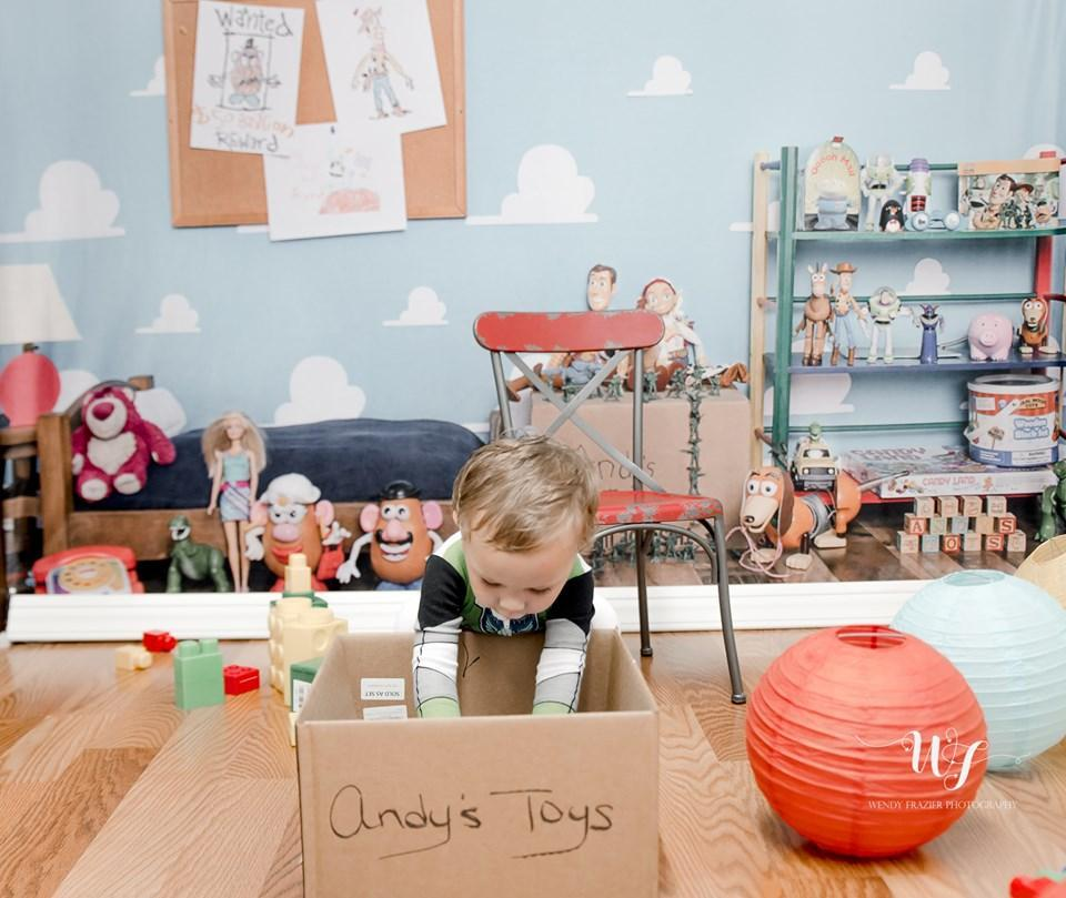 Kate Andys Toy Room Children Backdrop for Photography Designed by Erin Larkins