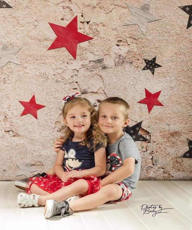 Kate Retro Stone 4th of July Independence Day Backdrop for Photography Designed by JFCC