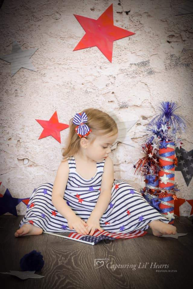 Load image into Gallery viewer, Kate Retro Stone 4th of July Independence Day Backdrop for Photography Designed by JFCC