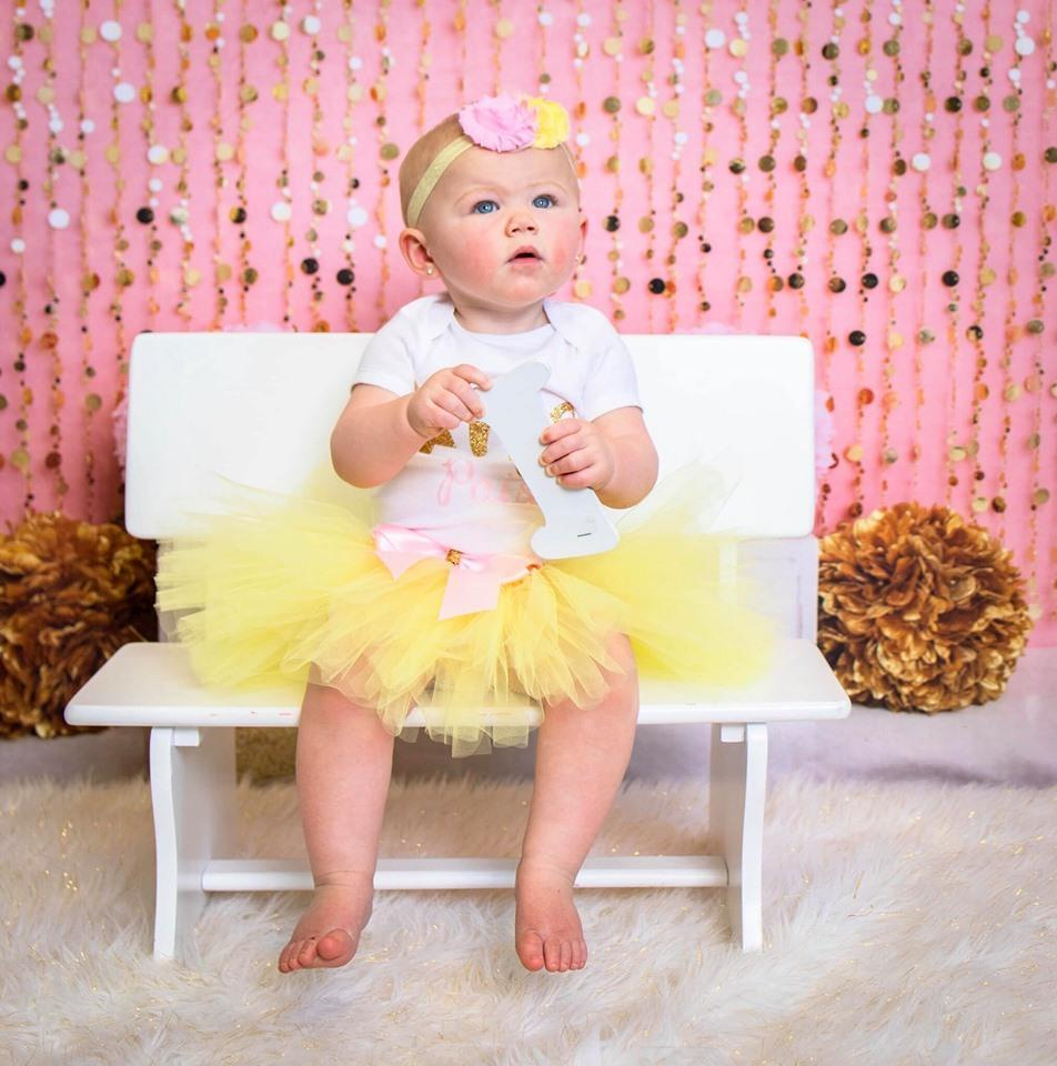Kate Pink Gold Birthday Backdrop for Photography Designed by Lisa B