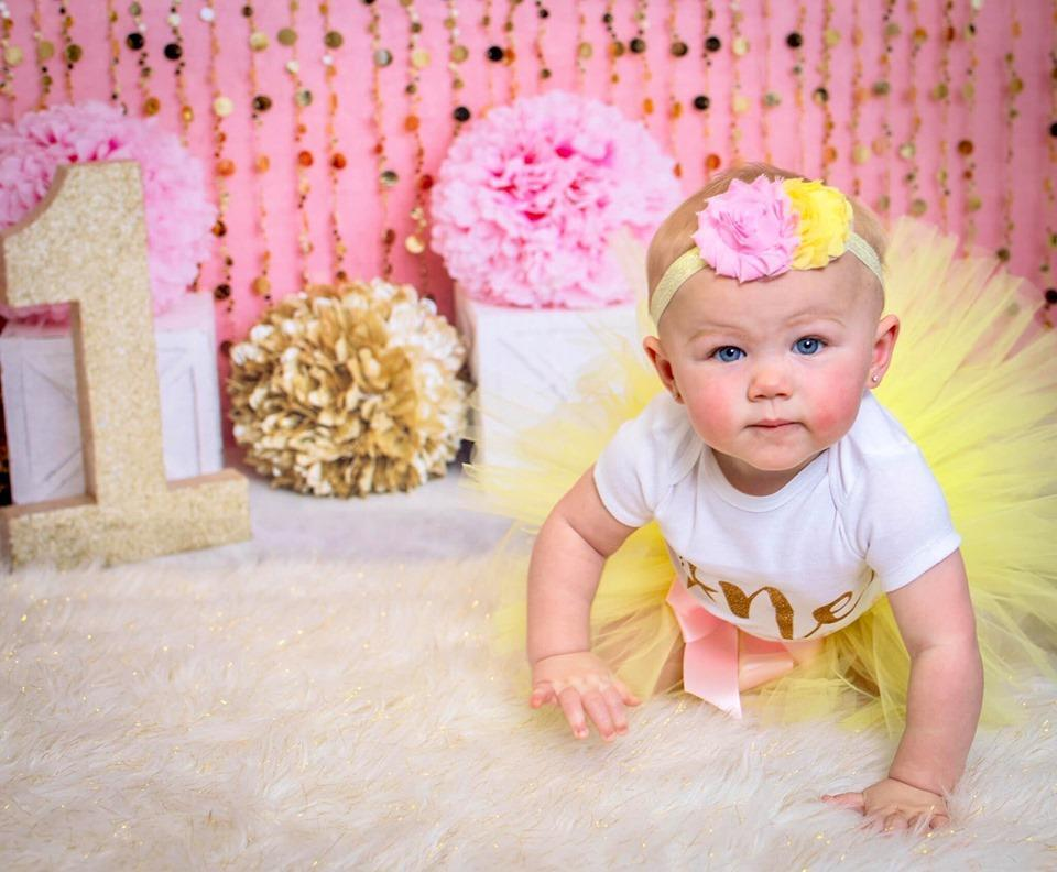 Load image into Gallery viewer, Kate Pink Gold Birthday Backdrop for Photography Designed by Lisa B