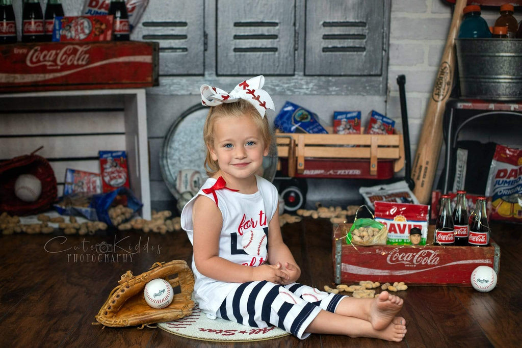 Kate Vintage Baseball Sport Backdrop for Photography Designed By Erin Larkins