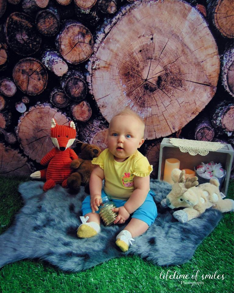 Load image into Gallery viewer, Kate Autumn Wooden Pile Backdrop for Photography Designed By Moements Photography