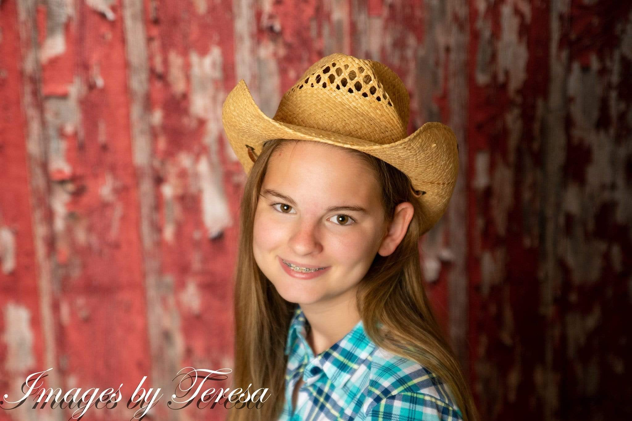 Load image into Gallery viewer, Kate Rustic Red Barn Wood Backdrop for Photography Designed By Mandy Ringe Photography