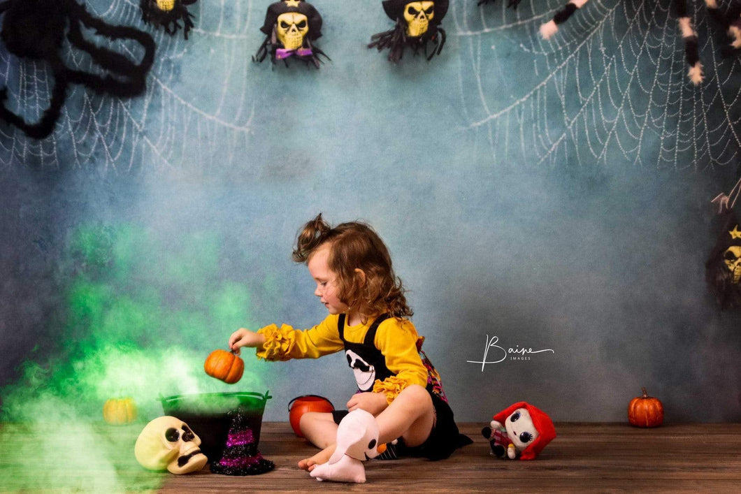 Kate Halloween Spider Web Props Backdrop Photography Designed By Jerry_Sina