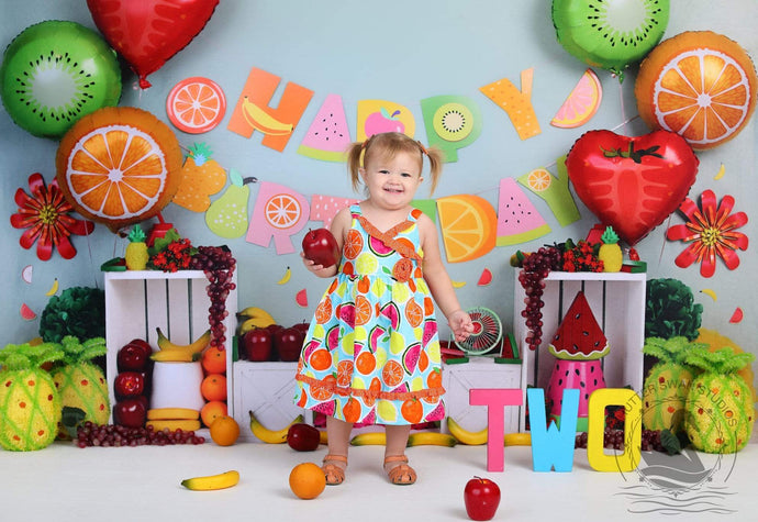 Kate Fruity Birthday Children Backdrop Design