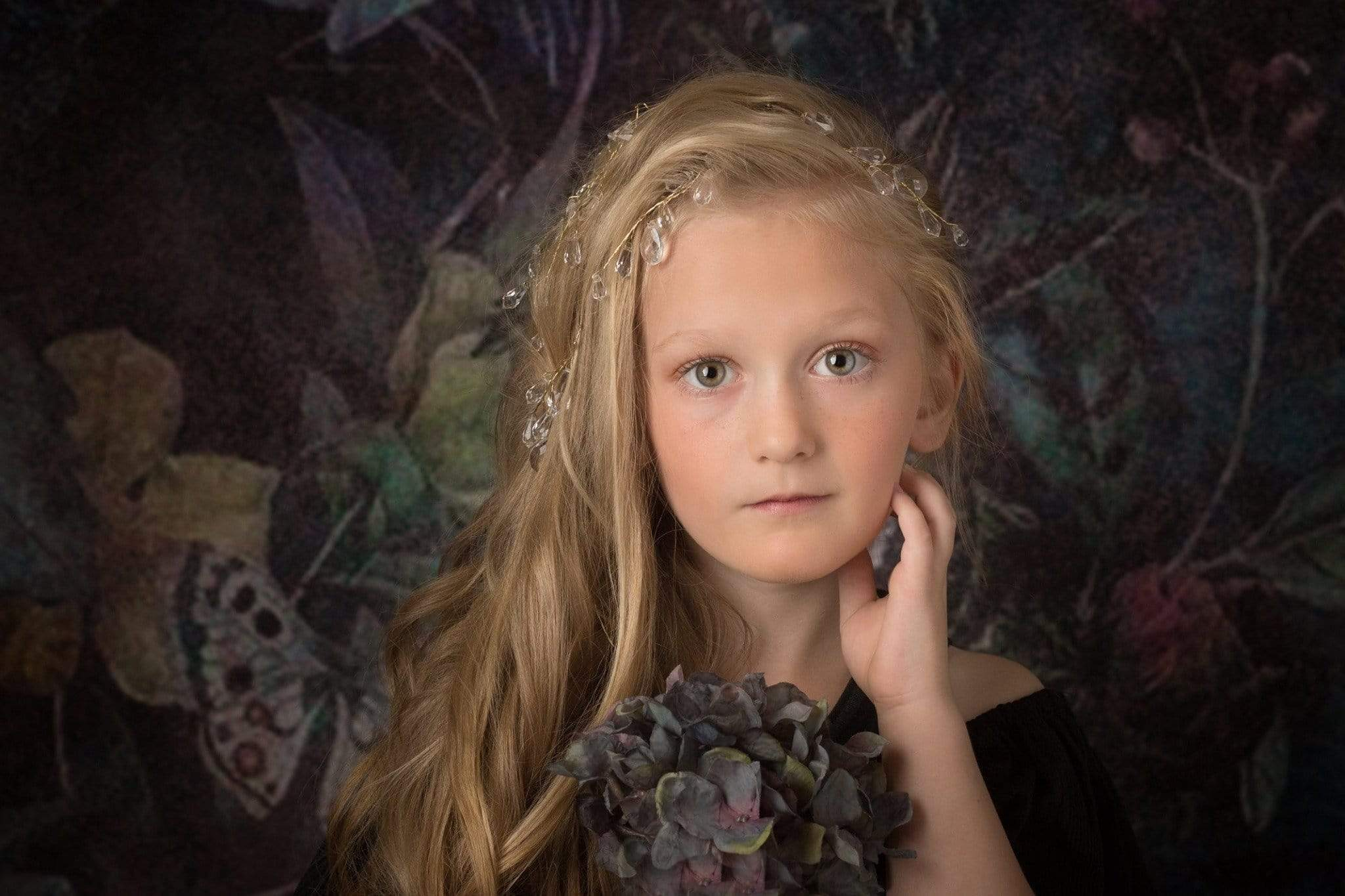 Load image into Gallery viewer, Kate Retro Floral Smoke Mist Backdrop for Photography Designed By Avion Photography
